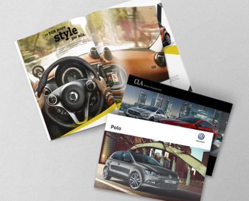 Grafica per concessionarie, realizzazione cataloghi personalizzati