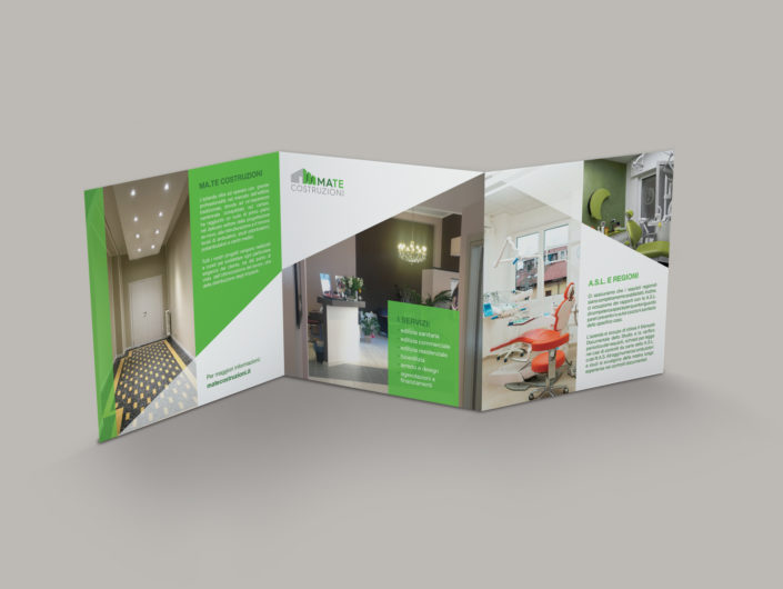 Brochure per impresa edile e di costruzioni