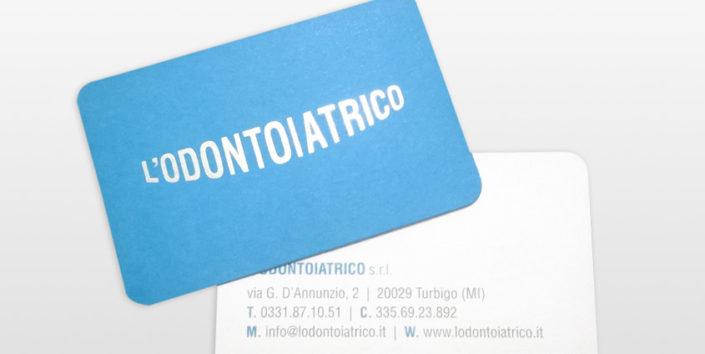biglietto da visita per studio dentistico