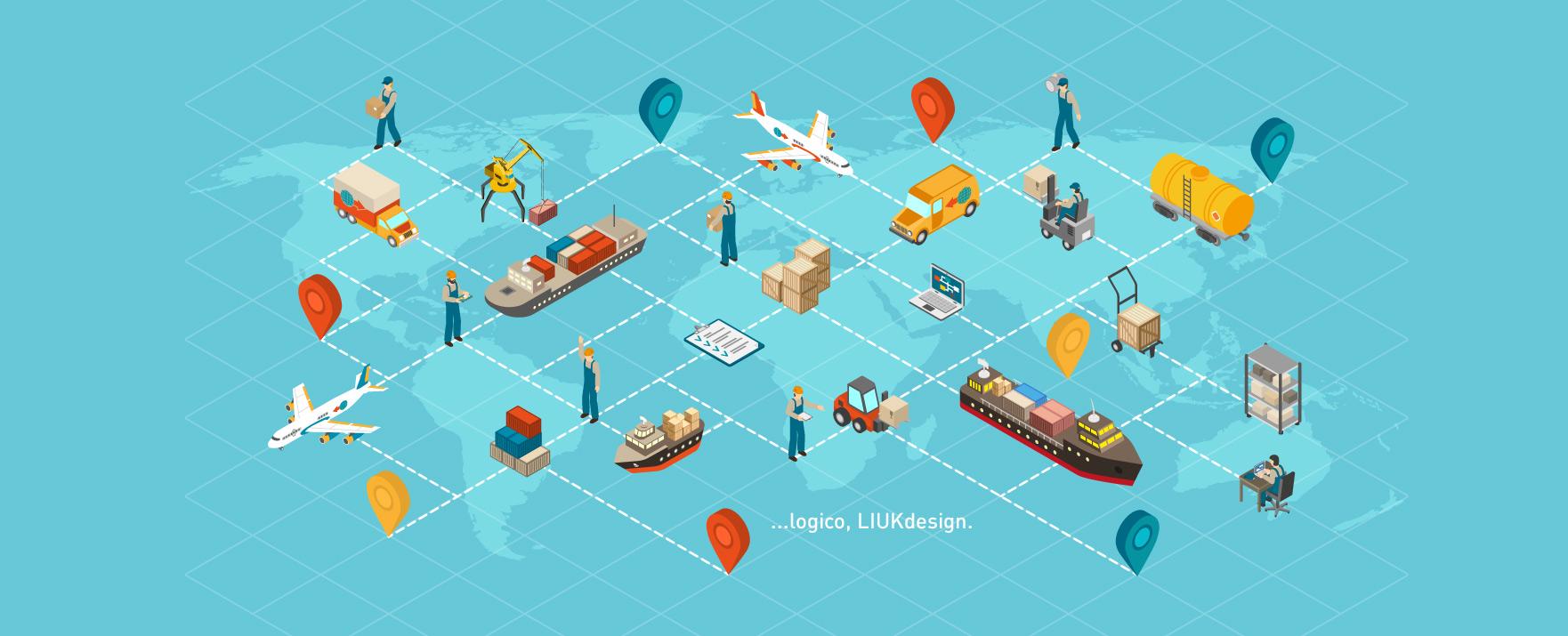 Grafica per azienda di logistica e trasporti
