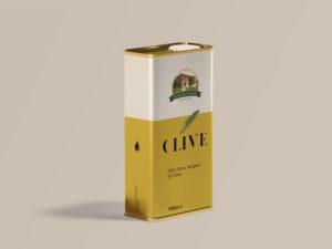 grafica e contenitore olio di oliva