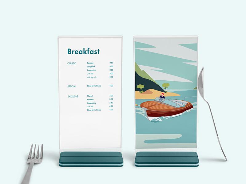 menu per hotel e alberghi