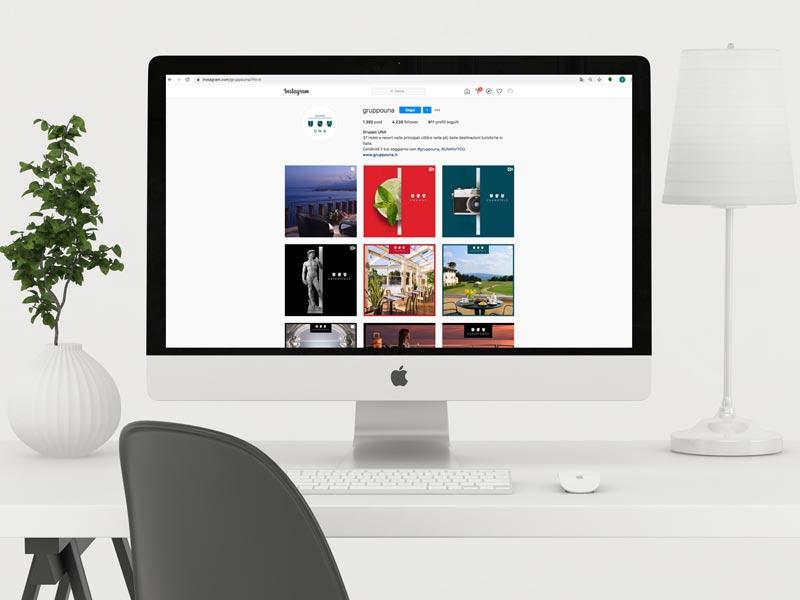grafiche social per hotel e alberghi