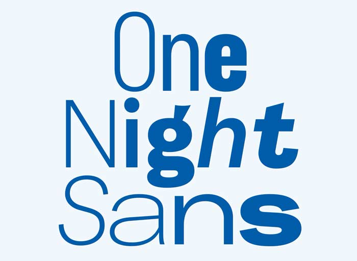 one night sans nuovo font durex
