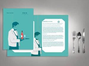 grafica ristorante bar LIUKdesign Milano