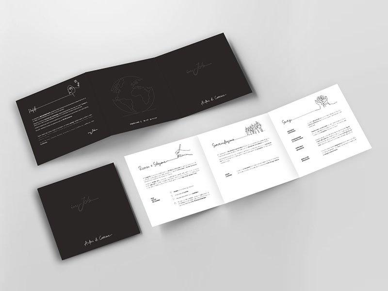 brochure grafica InJob Verona