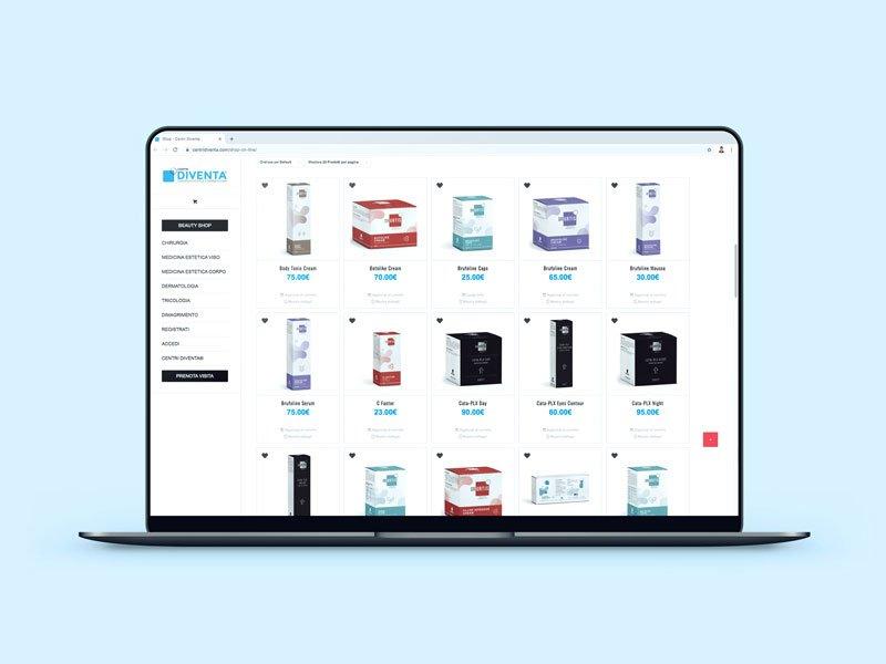 sito e-commerce prodotti di bellezza vendita online