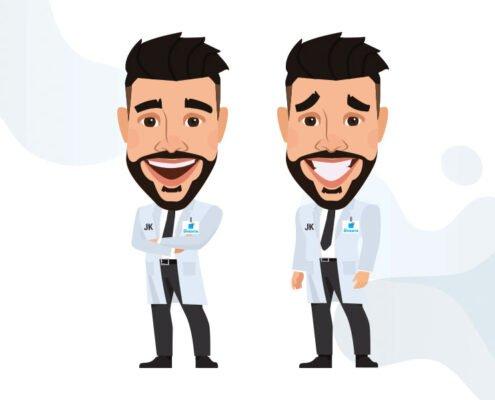 Illustrazione personaggi clinica