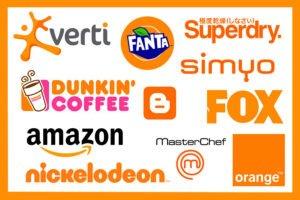 colori e mente dei consumatori arancio