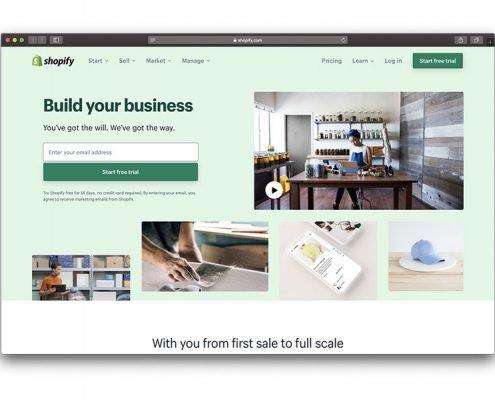 Creare un negozio online con shopify