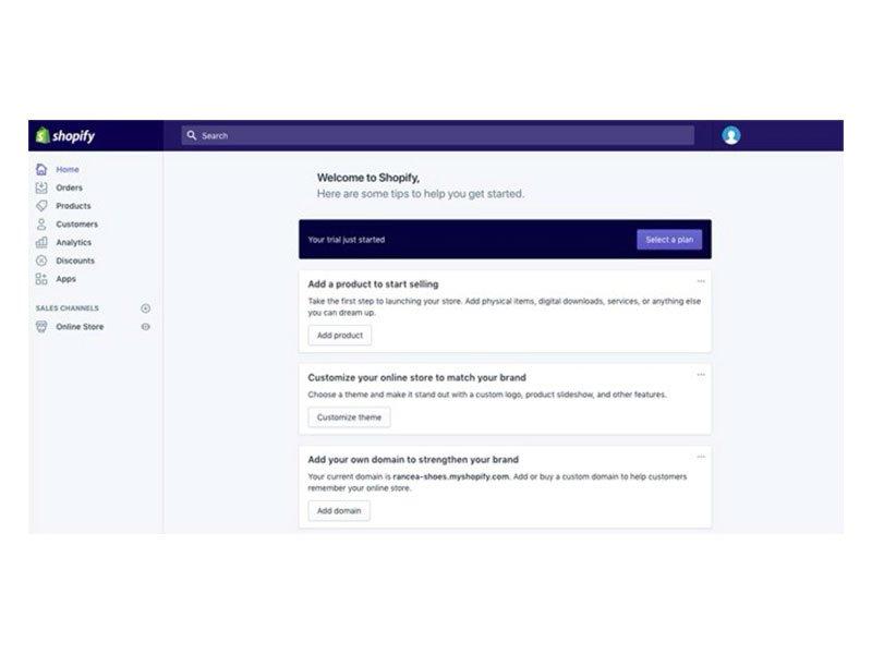 come creare un negozio online con shopify